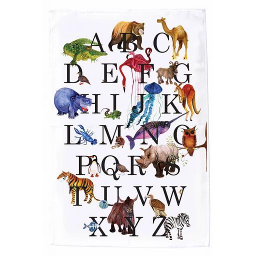 Animal Alphabet Tea Towel