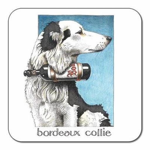 Bordeaux Collie Coaster