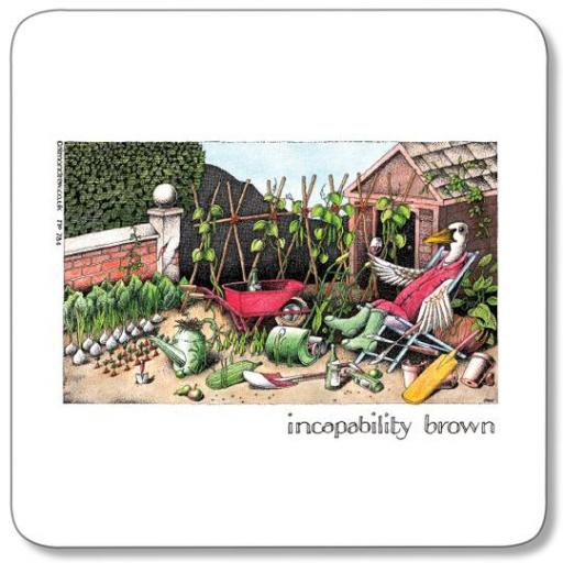 Incapability Brown Coaster